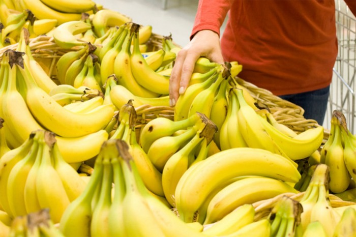 Bananas at Grocery Store
