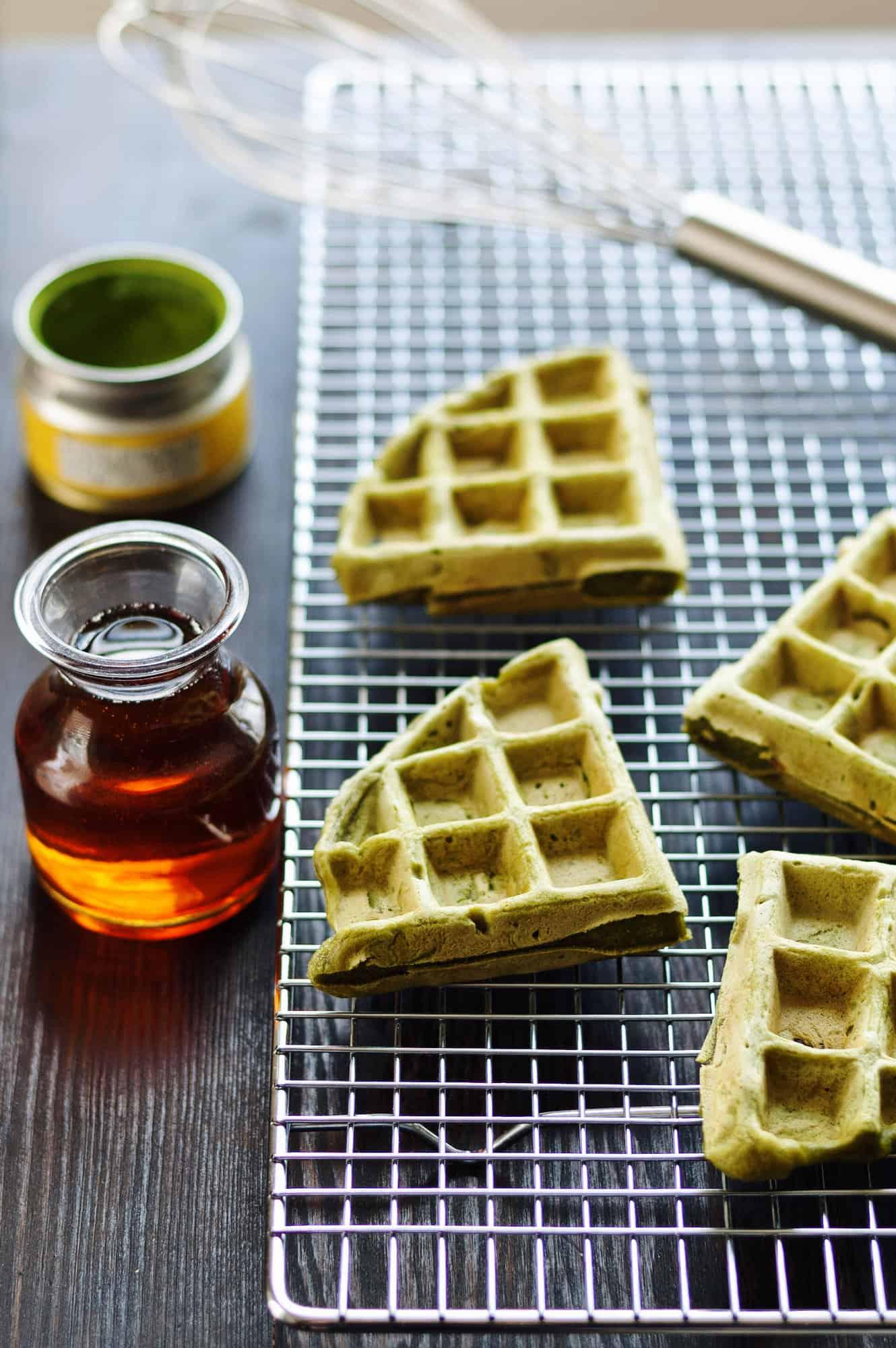 素食抹茶高蛋白窩夫